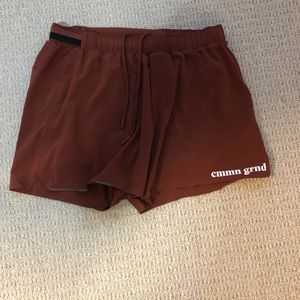 Lululemon x CMMNGRND running shorts with liners